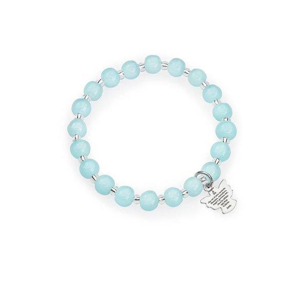 murano engel armband aquamarijn
