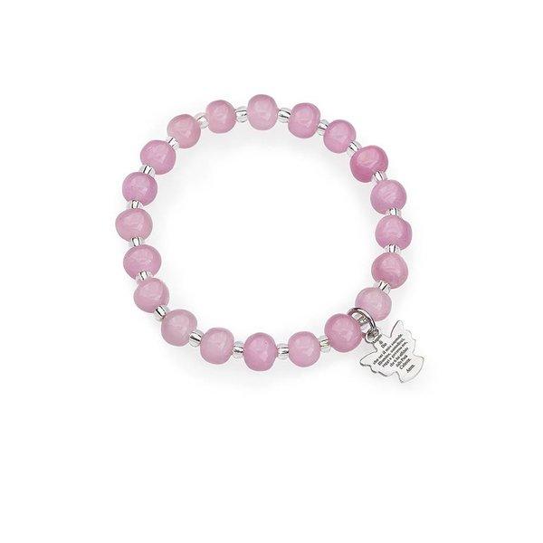 murano engel armband roze