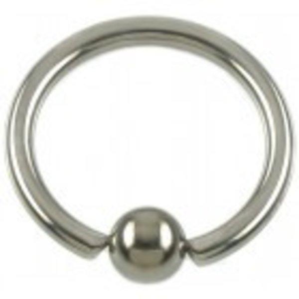 TITANIUM BALL CLOSURE RING