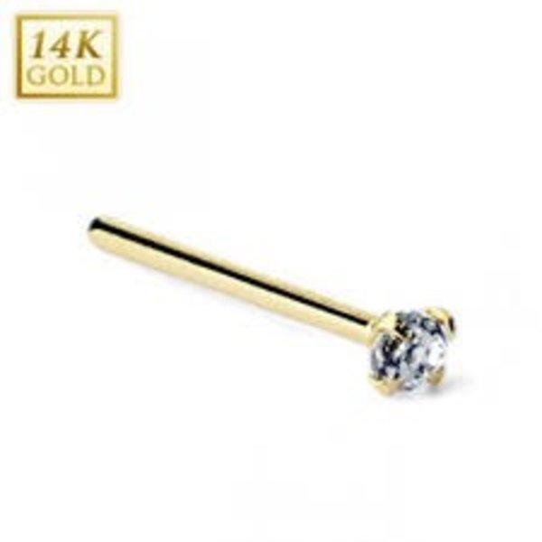 gouden neusknopje 14 k maxgoud /goldmoments neus piercing