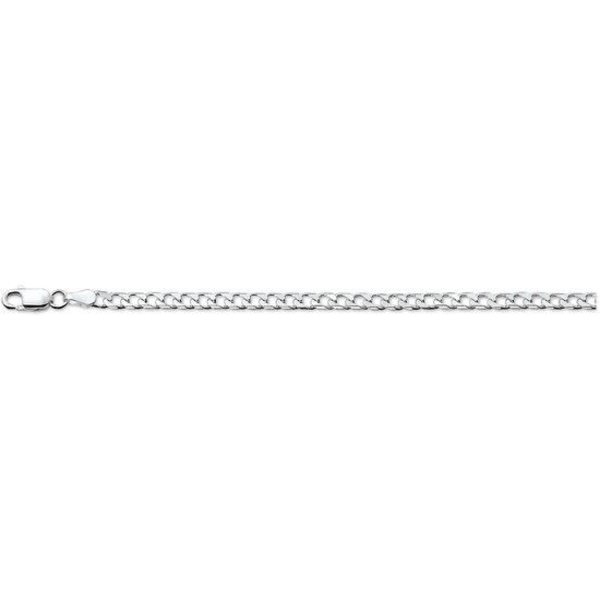 The Jewelry Collection Armband Geslepen Gourmet 3,0 mm - Zilver