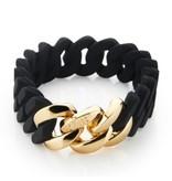 The Rubz armband Black & Gold 15 mm