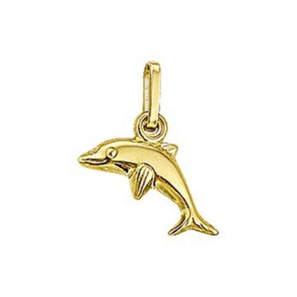 Geelgouden bedel dolfijn