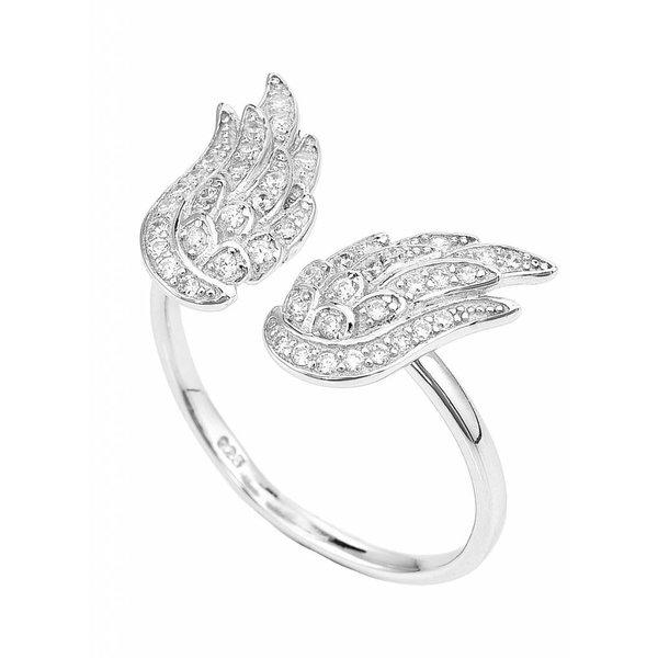Zilveren Amen ring.
