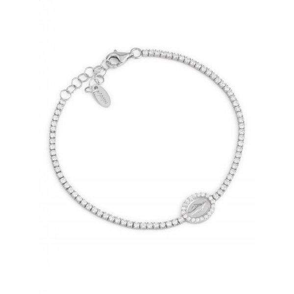 Zilveren Amen armband Maria