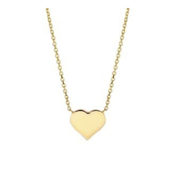 Geelgouden collier met een hart