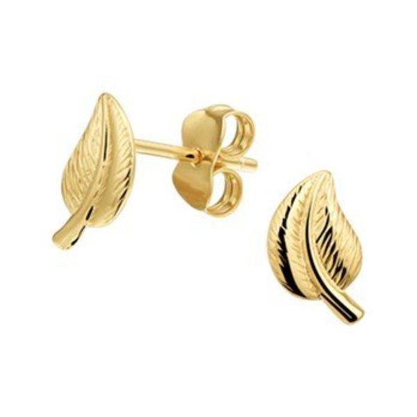 Gouden oorknoppen Blad