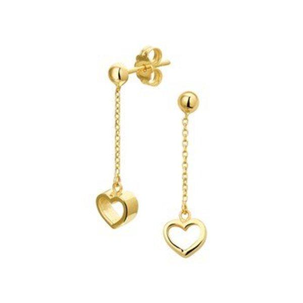 Gouden hart oorhangers