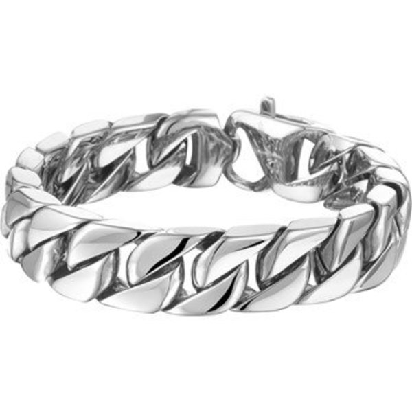 Armband Gourmet 14,3 mm 20 cm - Staal