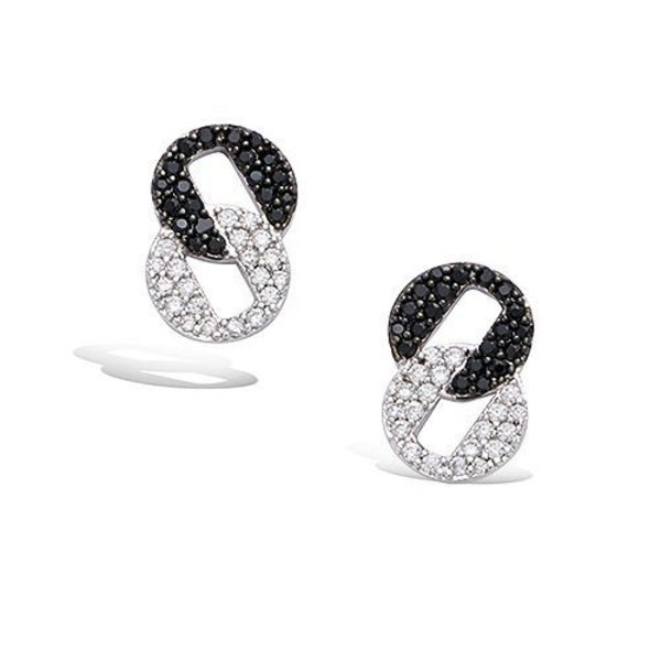 Earrings Rond Zwart