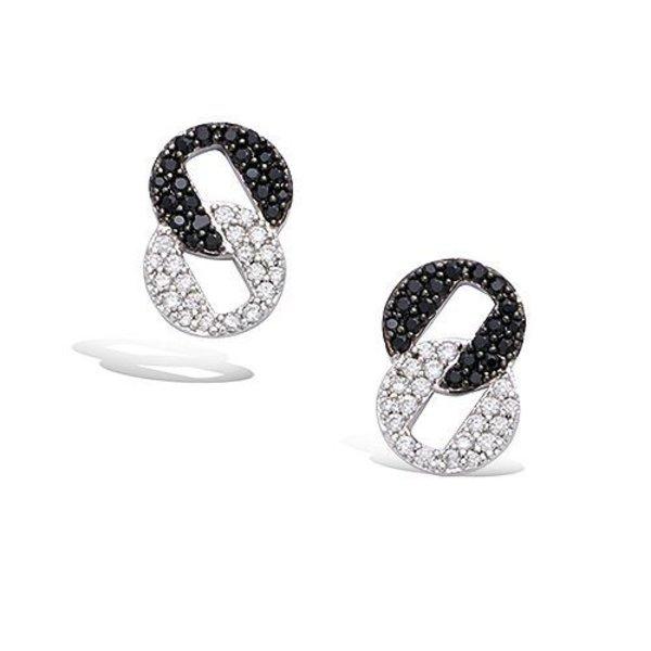 Earrings Rond Zwart