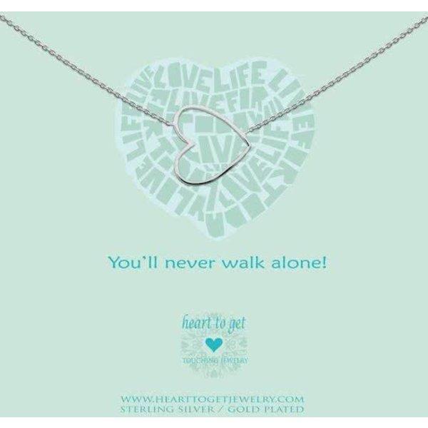Heart to Get - Ketting met hanger - Zilver - Hart
