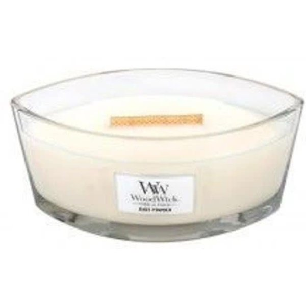 Baby Powder Ellipse WoodWick HeartWick Candle