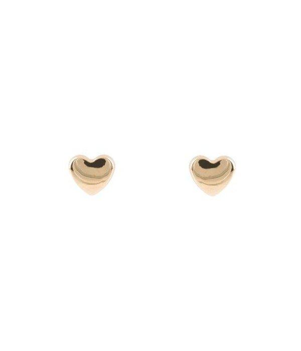Glow Lilly kinderoorknoppen - hart - geelgoud - 5x4 mm