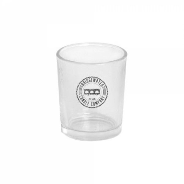 Votive Glass Bridgewater Logo Clear
