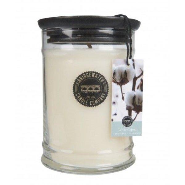 Bridgewater Candle Jar Large White Cotton
