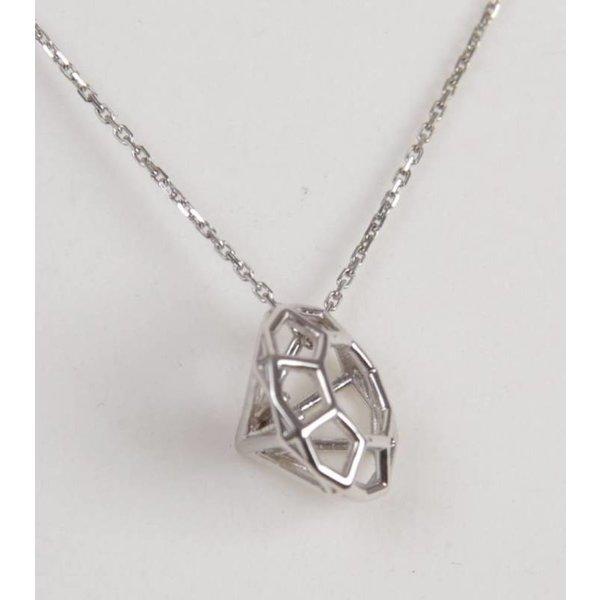 Hanger 13mm Diamant witgoud