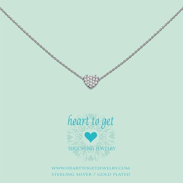 Heart to Get - Hanger Heart Zirkonia - Zilverkleurig