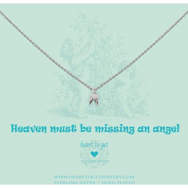 Heart to Get - Ketting met hanger - Zilver - Vleugels