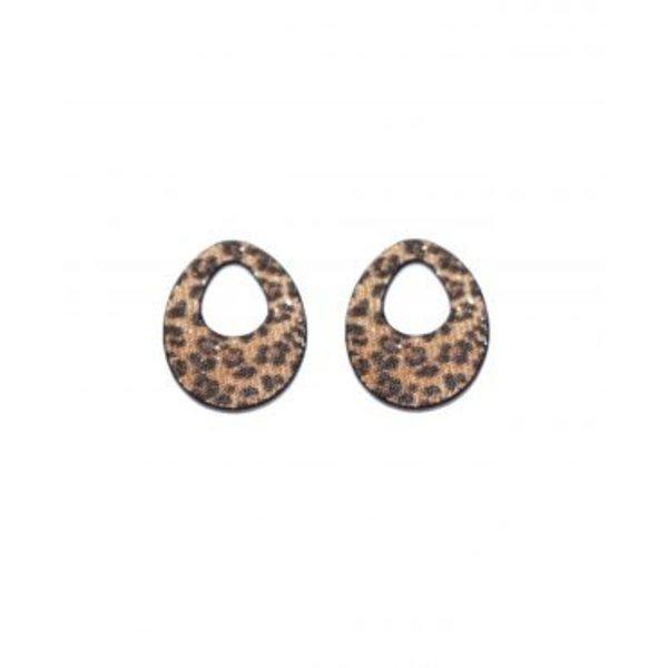 Valerie Leopard Glitter Hangers