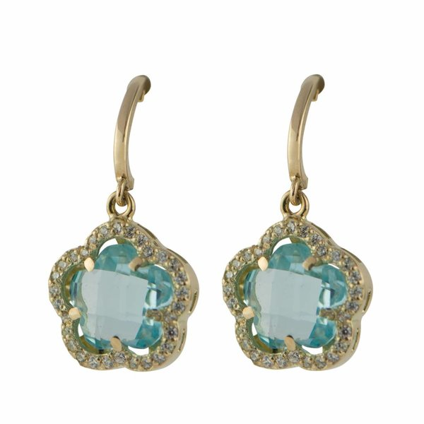 Earrings Daisy Flower Blue