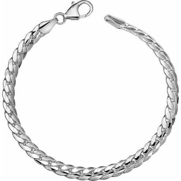 Armband Gourmet Bol 5,3 mm - Zilver