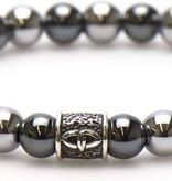 karma Silvertone Silver Logo bead 19 cm 86618