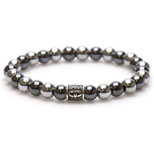 Silvertone Silver Logo bead 19 cm 86618