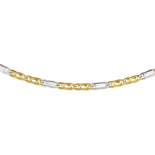 Ketting Valkenoog 2,6 mm - Bicolor Goud (14 Krt.)