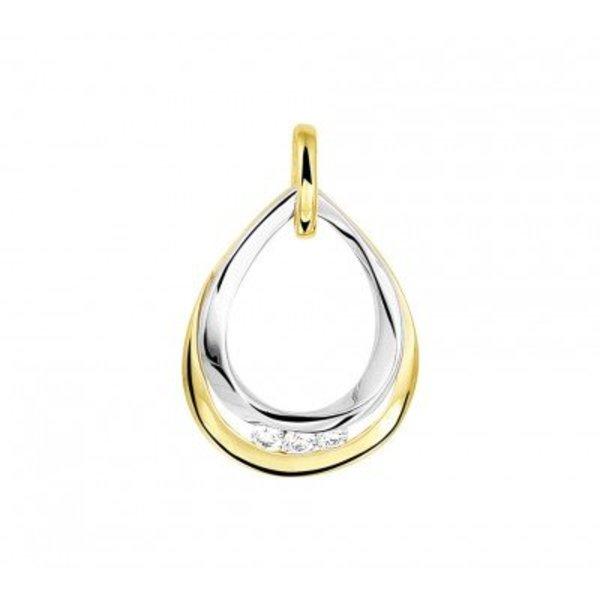 bicolor gouden hanger