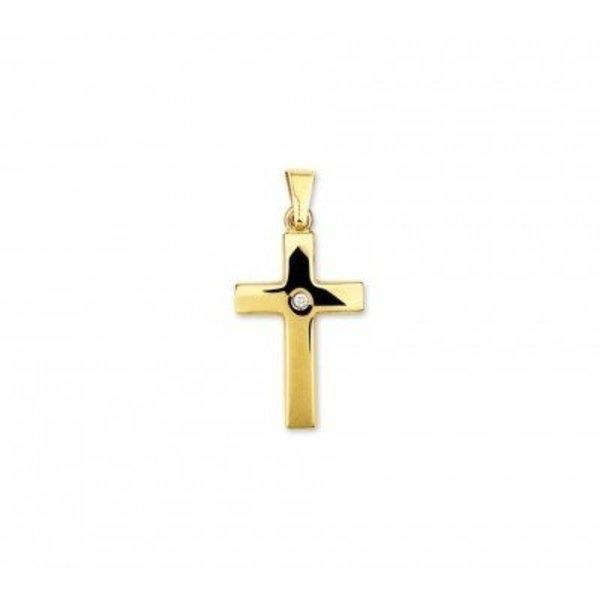 gouden hanger kruis met diamant