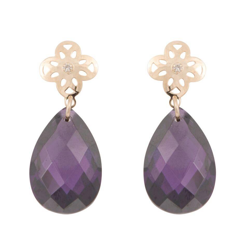 Cataleya Jewels Earrings Flower Purple