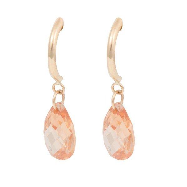 Earrings Half Hoop & Pear