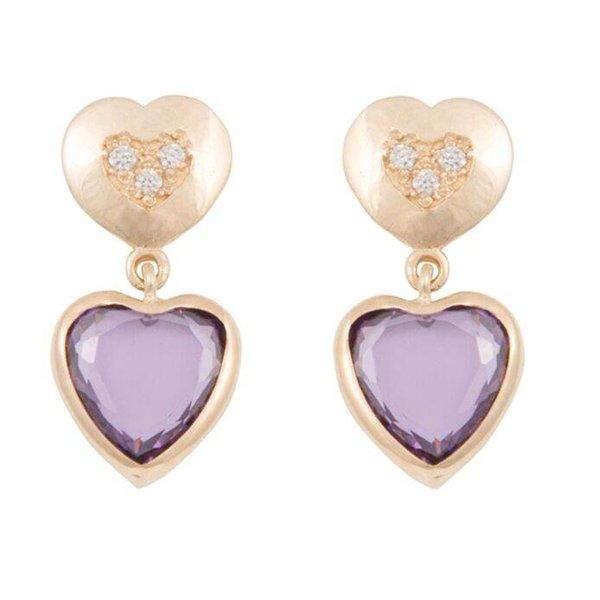Earrings Double Heart