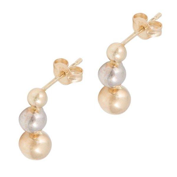 Earrings Balls Bi Color
