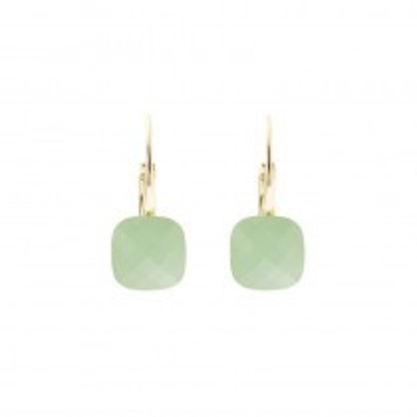 Biba qube mint green earrings