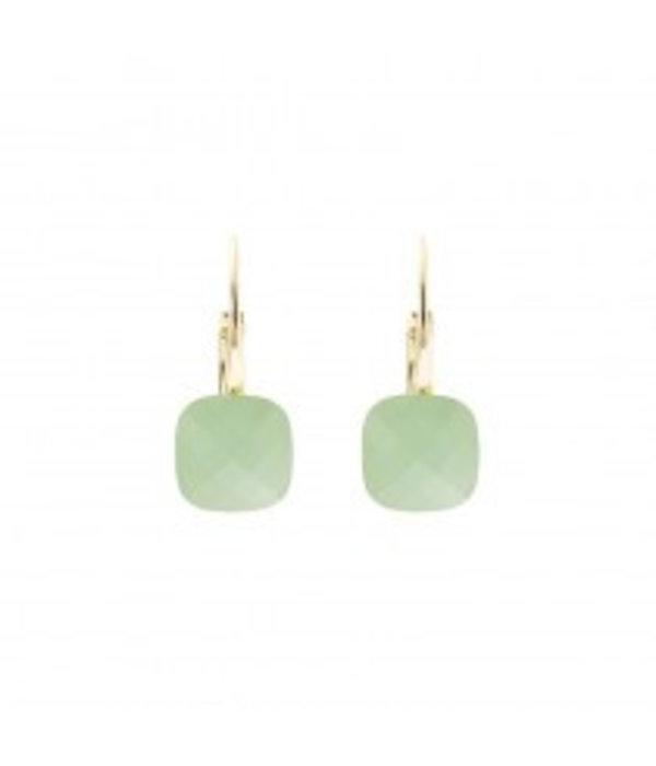 Biba  Biba qube mint green earrings