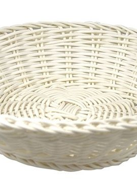 Cosy & Trendy For Professionals Ct Prof Basket White D20xh8cm Round Plastic set of 6