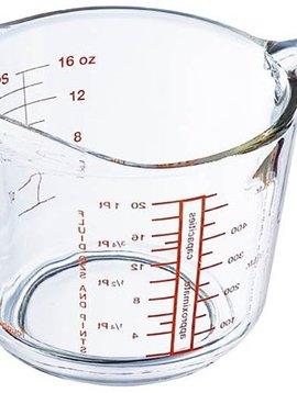 Arcuisine Set von 6 Messbecher in Glas von 0,5 Liter