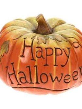 Cosy @ Home Pompoen 'happy Halloween' 26x26cm26x26cm Keramiek