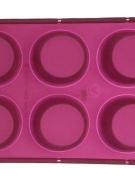 Sif Sif Brioflex Tray Sil.6muffins D6,9w/hardened Edge Rim