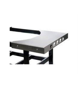 Primo Grill RVS zijtafels voor cart Ovaal Junior