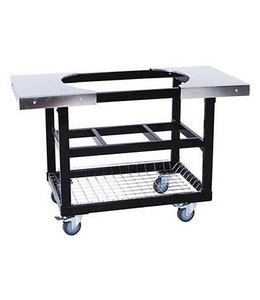 PrimoGrill Cart met mand incl. RVS zijtafels Ovaal Large