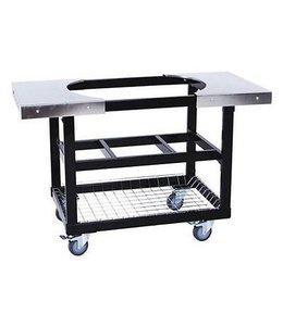 Primo Grill Cart met mand Ovaal XL met RVS zijtafels