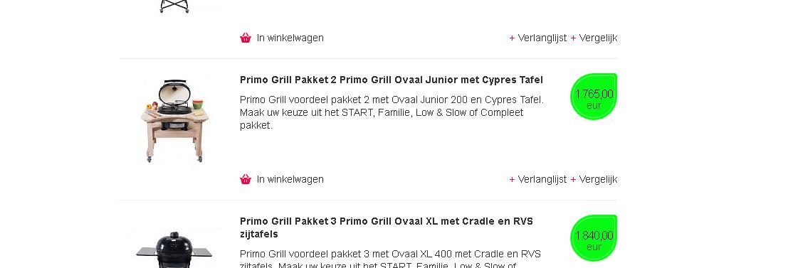 PrimoGrill basis pakket