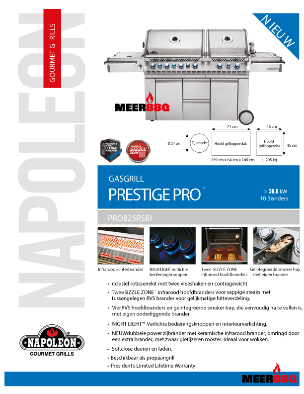 Napoleon Prestige Pro 825RSBI
