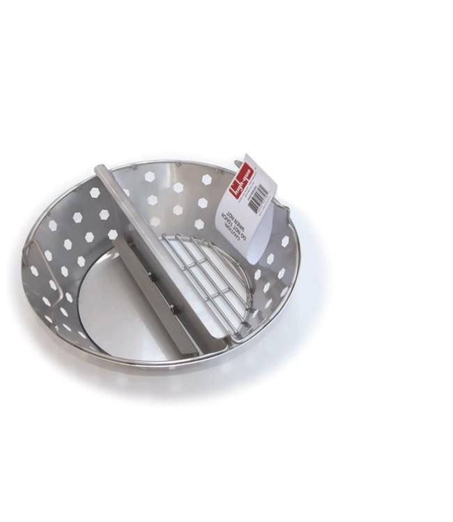 High-Que HIGH PERFORMANCE TWO-ZONE FIRE BASKET (Vuurbox Scheider BGE Large) voor LARGE BIG GREEN EGG