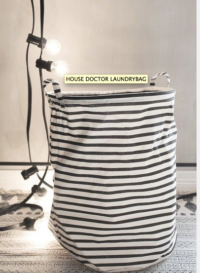 House Doctor Waszak zwart/wit gestreept