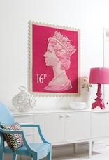 Postzegel kleed roze