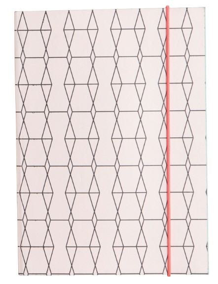 House Doctor Notebook Geometrisch Roze